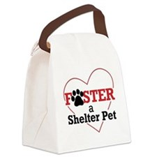 Foster a Shelter Pet Canvas Lunch Bag