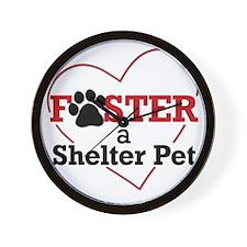 Foster a Shelter Pet Wall Clock