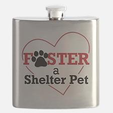 Foster a Shelter Pet Flask