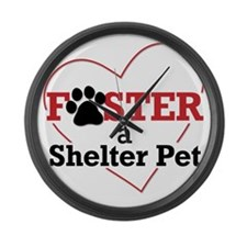 Foster a Shelter Pet Large Wall Clock