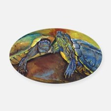 turtles Oval Car Magnet