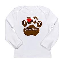 I Heart My Great Dane Long Sleeve T-Shirt