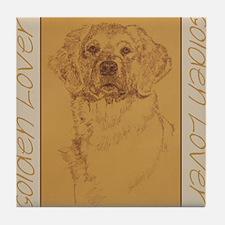 Golden_Lover_Kline Tile Coaster