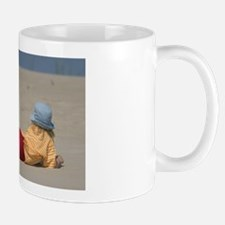 Girl on beach, warnemunde Mug