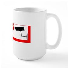 10x3_sticker - Warning Auto Video Surve Mug
