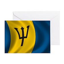 barbados_flag Greeting Card