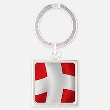 swiss_flag1 Square Keychain