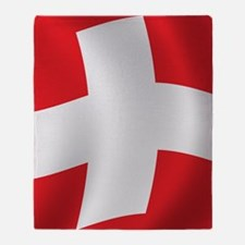 swiss_flag1 Throw Blanket