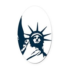 peace_liberty Oval Car Magnet
