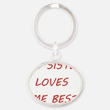 Sister Loves Me Oval Keychain