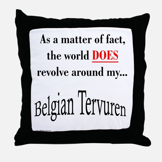Belgian Tervuren World Throw Pillow