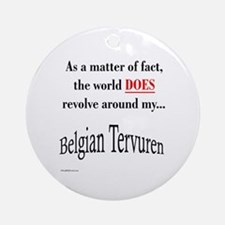 Belgian Tervuren World Ornament (Round)