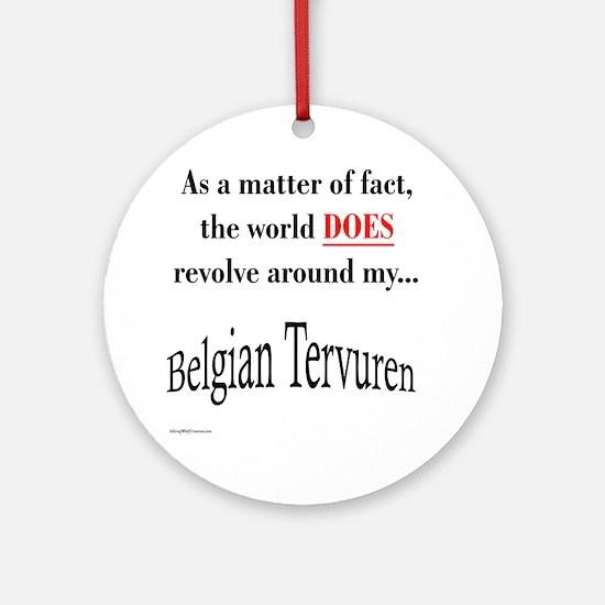 Belgian Tervuren World Ornament (Round)