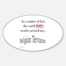 Belgian Tervuren World Oval Decal