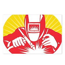 welder welding worker hol Postcards (Package of 8)