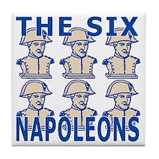 SixNapoleons_blue Tile Coaster