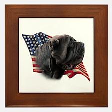 Neapolitan Mastiff Flag Framed Tile