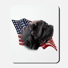 Neapolitan Mastiff Flag Mousepad