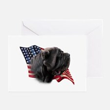 Neapolitan Mastiff Flag Greeting Cards (Package of