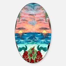 Aloha Mermaid Sticker (Oval)