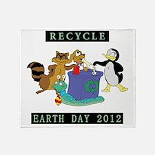 earth382012lightW Throw Blanket