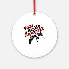 RallySquirrelRed Round Ornament