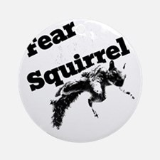 RallySquirrelWhite Round Ornament