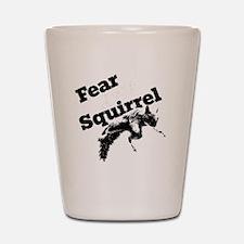 RallySquirrelWhite Shot Glass