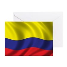 colombia_flag Greeting Card