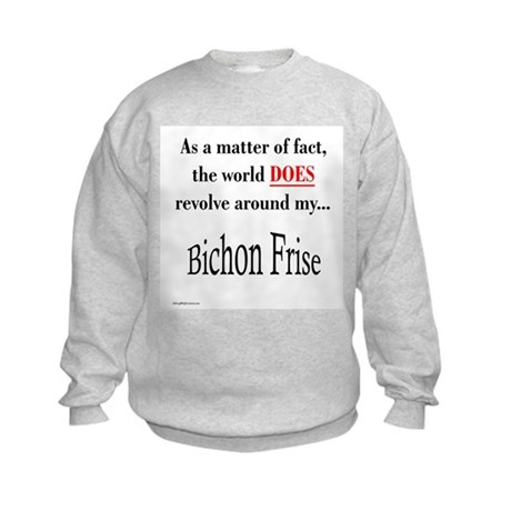 Bichon Frise World Kids Sweatshirt