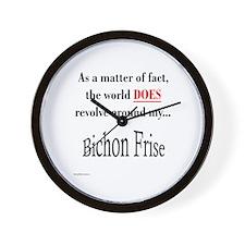 Bichon Frise World Wall Clock