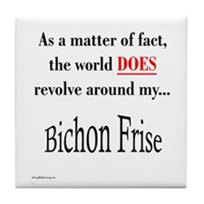 Bichon Frise World Tile Coaster