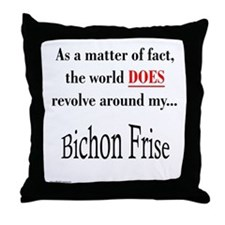 Bichon Frise World Throw Pillow
