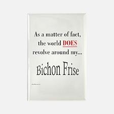Bichon Frise World Rectangle Magnet