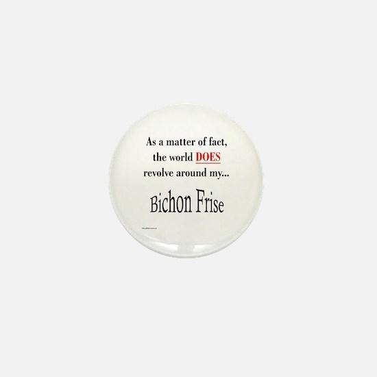 Bichon Frise World Mini Button