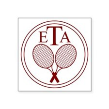 "ETA Logo (maroon) Square Sticker 3"" x 3"""
