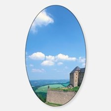 Konigstein. Festung Konigstein Cast Sticker (Oval)