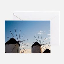 Greece and Greek Island of Mykonos a Greeting Card