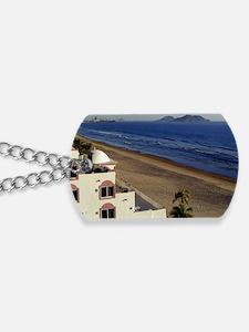 A clear walking beach Dog Tags