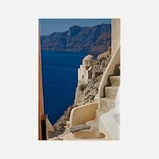 Greece and Greek Island of Santor Rectangle Magnet