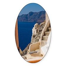Greece and Greek Island of Santorin Decal