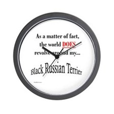 Russian Terrier World Wall Clock
