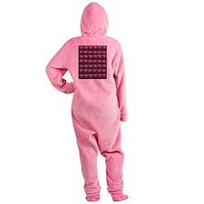 PINK SAFARI2 Footed Pajamas
