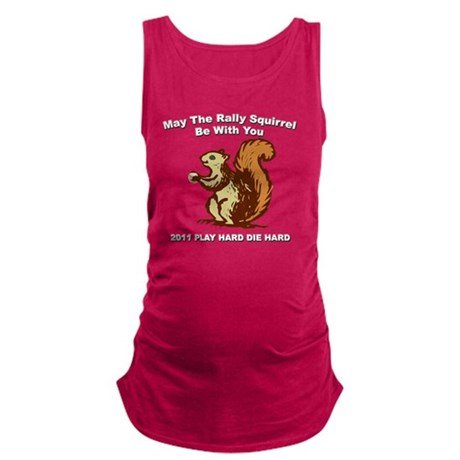 Rally be with you Dark copy Maternity Tank Top