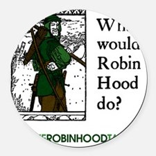 RobinHood12x12 Round Car Magnet