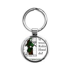 RobinHood12x12 Round Keychain