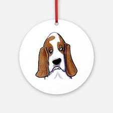 Hound Dog Ornament (Round)