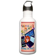 Large Poster Cyber Mon Water Bottle