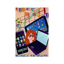 Large Poster Cyber Monday-Bring I Rectangle Magnet