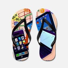 Large Poster Cyber Monday-Bring It On! Flip Flops